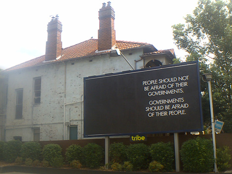 Photograph of a billboard, taken 11 March 2006