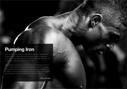 Image from Billy Law's Pumping Iron series: click for the slideshow