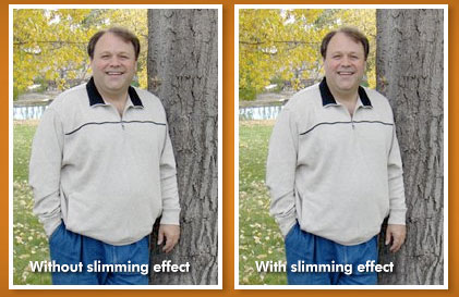 Before and after photos of slimming effect