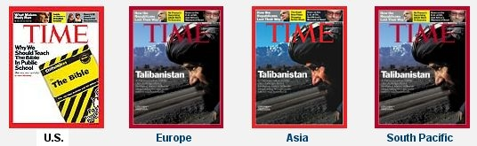 Covers of Time magazine