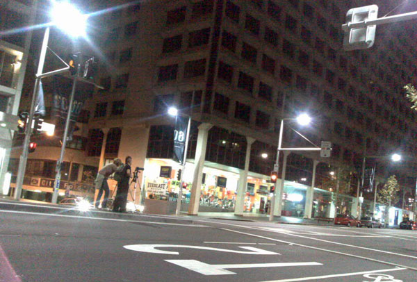 Photo of Pong on William Street during Earth Hour