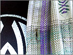 Close-up photograph of fabric pattern on flannelette shirt