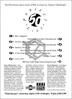 Triple J Club Escape Perfect List 1990: click for a close-up