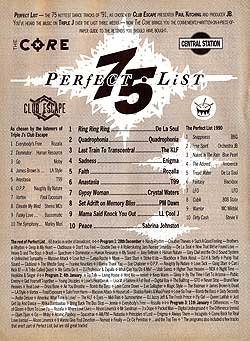 Triple J Club Escape Perfect List 1991: click for a close-up