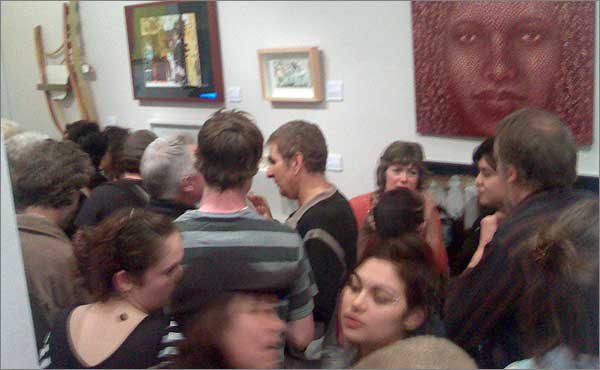 Photograph of Marrickville Contemporary Art Prize launch night