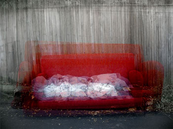 Photograph: Red Sofa by 'Pong