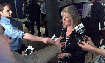 Photograph of Senator Helen Coonan at ACS Election Forum