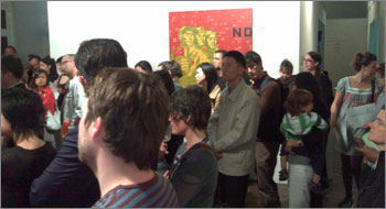 Photograph of crowd at Gallery 4A