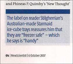 Scan of New Scientist piece