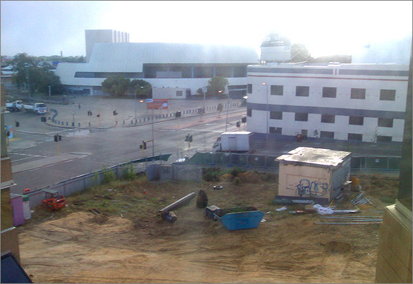 Photograph of a building site in Perth