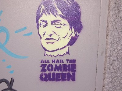 Photograph of Stencil Art: All Hail the Zombie Queen