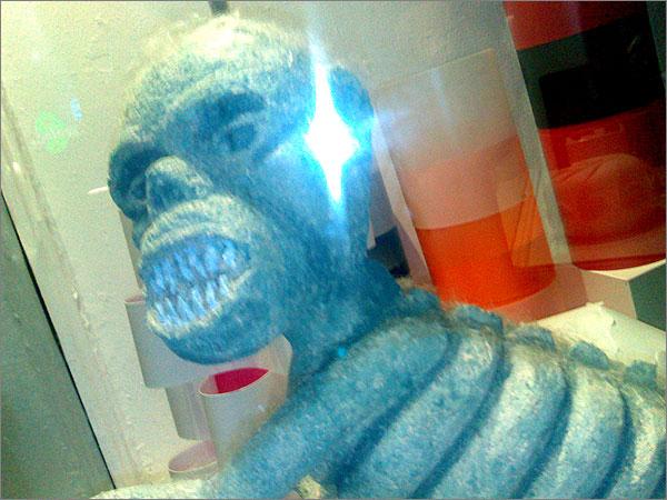 Sculpture of John Howard as an alien