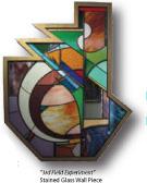 Stained glass work by Jeffrey Hamilton