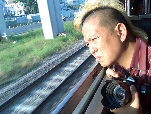 Photo of Trinn Suwannapha taken on the train returning to central Bangkok from Don Mueng