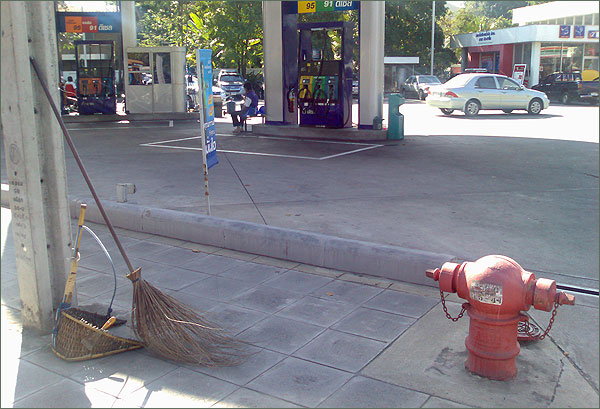 Photograph of street sweeper equipment in Thailand