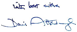 Autograph: With best wishes, David Attenborough