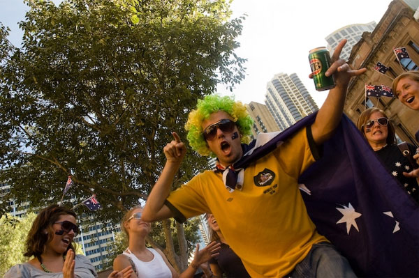 Photograph of Australia Day reveller by Trinn Suwannapha
