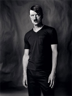 Photograph of Adolf Hitler in a modern fashion style