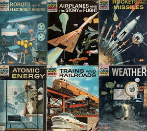 Collage of covers from How & Why Wonder Books from 1960 through to the 1970s