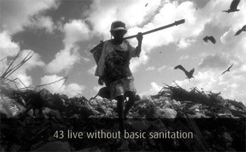 Screenshot of Miniature Earth: 43 live without basic sanitation