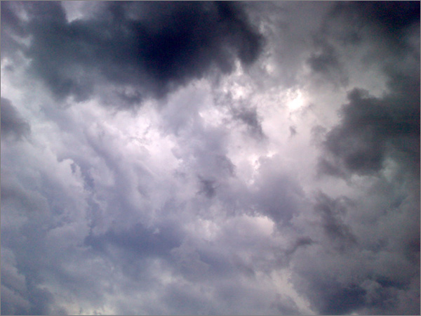 Photograph of storm clouds over Sydney