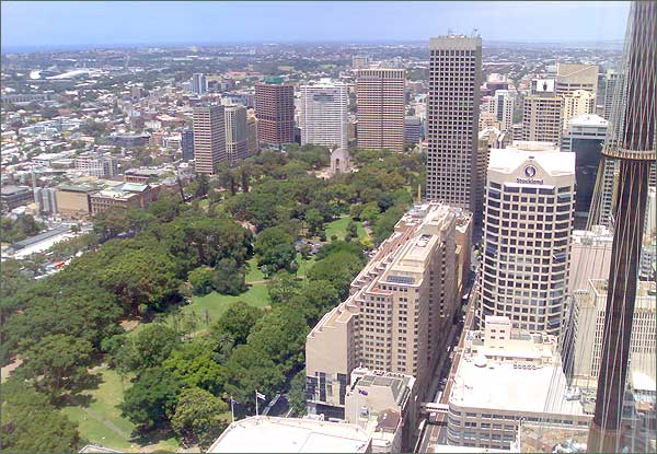 Photograph of Sydney taken from MLC Centre, Martin Place