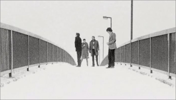 Photograph of Joy Division by Kevin Cummins
