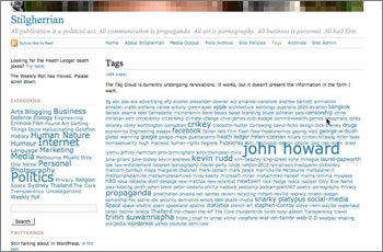Small screenshot of the Tags page taken today