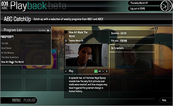 Screenshot from ABC Playback