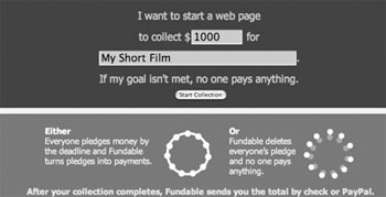 Screenshot from Fundable.org