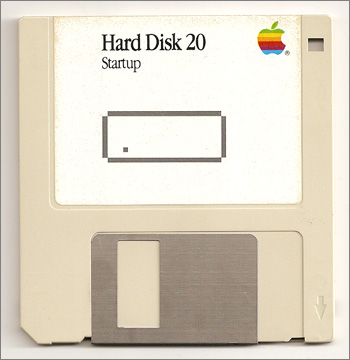 Photograph of 3.5-inch floppy disc for Apple Macintosh HD20