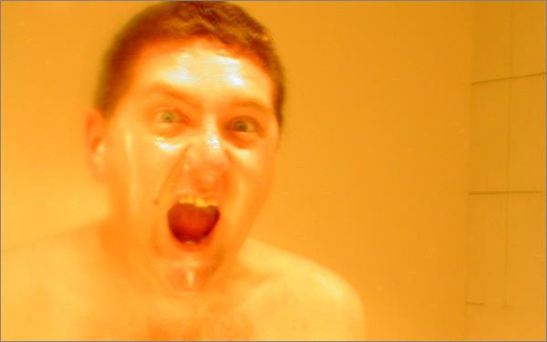 Photograph of Stilgherrian roaring at the camera