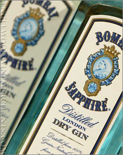 Photograph of Bombay Sapphire Gin bottle