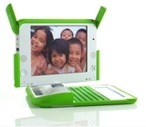 Photograph of OLPC XO computer