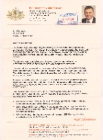 Scan of letter from Anthony Albanese MP
