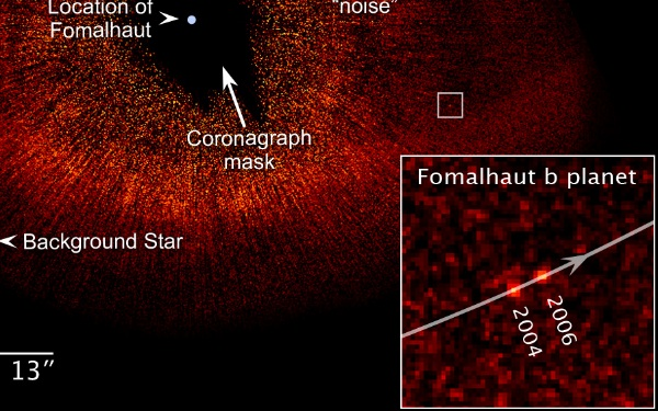 Hubble Space Telescope imagery of newly-discovered planet around Fomalhaut b