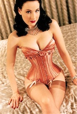 Photograph of burlesque artist and model Dita von Teese