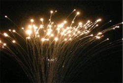 Photograph of fibre optics