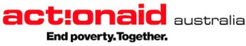 ActionAid Australia logo: End poverty. Together.