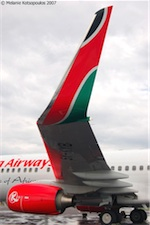 Kenya Airways Boeing 737, photo by Melanie Kotsopoulos