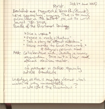 Photograph of a page from Stilgherrian's notebook