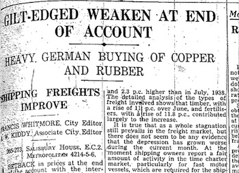 Daily Telegraph (UK), 19 August 1939, page 3 (part): click for a closer view