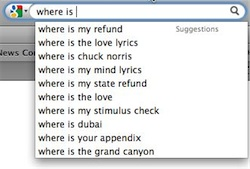 "Screenshot of Google asking ""Where is...?"""
