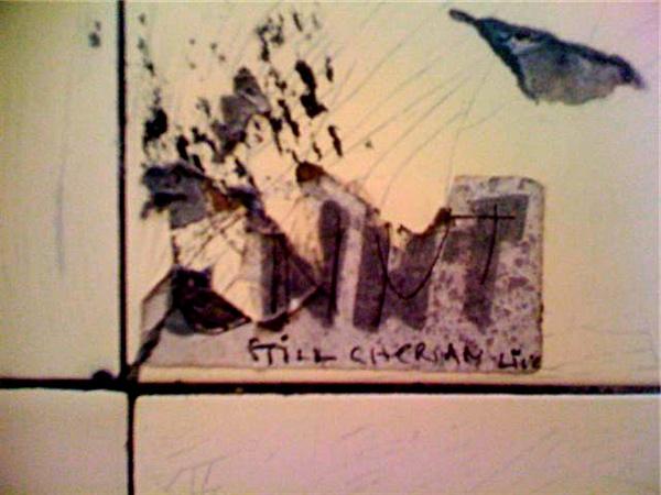 Photo of Cnut sticker with Still Gherrian Live [sic] added