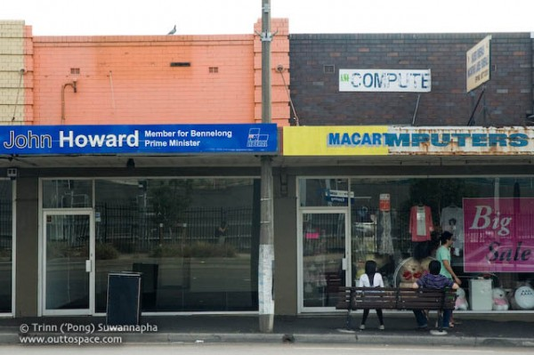 Photograph of John Howard's campaign office in Epping by Trinn ('Pong) Suwannapha