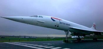 British Airways Corcorde G-BOAC at Manchester Aviation Park. Photo by Ian Britton, © FreeFoto.com.