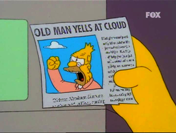 "Old Man Yells At Cloud screenshot from ""The Simpsons"""