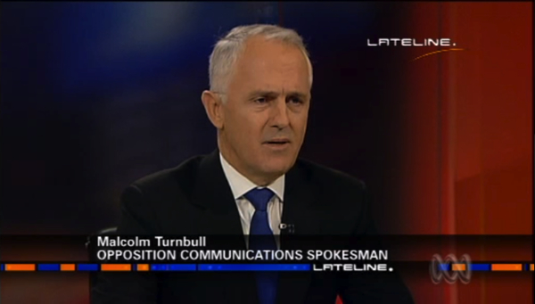 Malcolm Turnbull on ABC TV's Lateline: click for video and transcript
