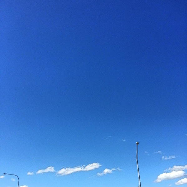 Blue sky at Katoomba: click for original image on Flickr
