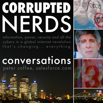 "Cover art for ""Corrupted Nerds: Conversations"" episode 3: click for podcast web page"